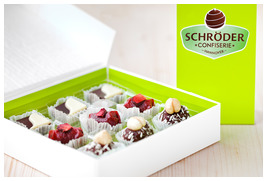 Confiserie Schröder - Faltschachteln offen